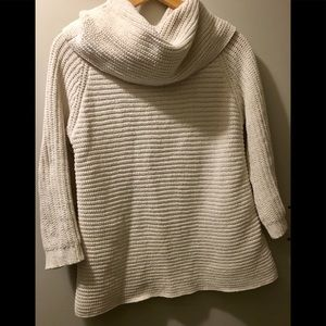 Cowl Neck chunky sweater.